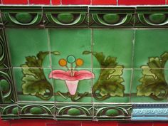 LITERATURA & RIO DE JANEIRO: AZULEJOS DECORATIVOS Azulejos art nouveau na Escadaria Selaron (Lapa)