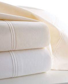 Two Marcus Collection King 600 Thread Count Solid Percale Pillowcases #long#smooth#staple