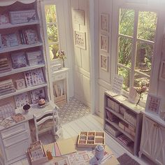 White Crafts Studio 1/6 scale :) #dollhouse #miniature #diorama #roombox Tonight at #ebay | Flickr - Photo Sharing!