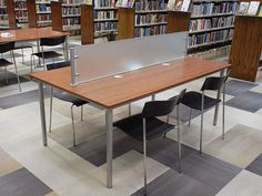 Skware™ customizable table, study tables, circulation desks, display tables, OPAC tables | 3branch