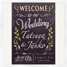 @chalkart3sz Instagram photos | Websta  bridal wedding blackboard chalkart チョークアート 黒板 ウェディングウェルカムボード
