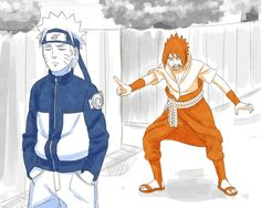 If Naruto and Sasuke's personalities were switched. Can you imagine how weird this would be??