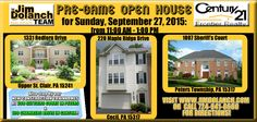 **OPEN HOUSES GALORE!**  Looking for a home in Peters, Cecil, or Upper St. Clair this weekend? What about a new construction townhouse? Stop by one of our open houses at these locations to see what these homes have to offer!! #Pittsburgh #realestate #OpenHouse #homesforsale
