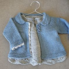 Free knitting pattern for Charlee Baby Girl Jacket and more baby cardigan knitting patterns