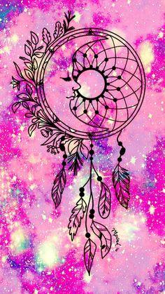 Wallpaper Pink galaxy moon dreamcatcher iphone/android wallpaper - Life and hacks Dream Catcher Wallpaper Iphone, New Wallpaper Iphone, Trendy Wallpaper, Cellphone Wallpaper, Galaxy Wallpaper, Cute Wallpapers, Wallpaper Backgrounds, Pink Wallpaper, Dreamcatcher Wallpaper