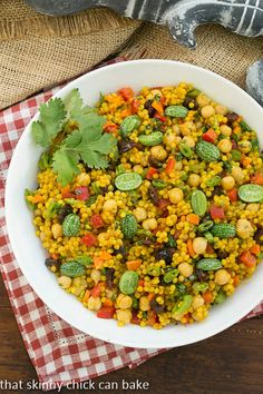 Couscous Salad   couscous salad recipe with Moroccan flavors  That Skinny Chick Can Bake
