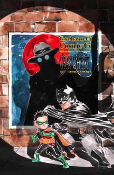 Batman: Li'l Gotham 9 - Art and cover by Dustin Nguyen Free Comics, Dc Comics, Frank Miller Art, Dustin Nguyen, Im Batman, Gotham Batman, Batman Robin, Superman, Nerd