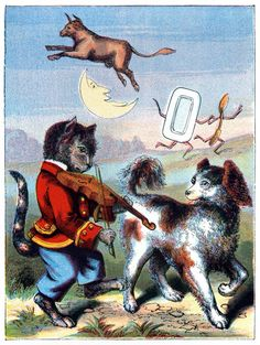 Hey diddle diddle, the cat and the fiddle: From Nursery Rhymes, by Edward P Cogger, New York, ca. 1880.