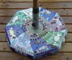Umbrella stand mosaic...love this!