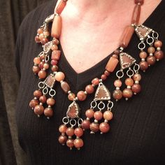 "The same necklace worn...www.halter-ethnic.com...see ""My Lucky Finds"""
