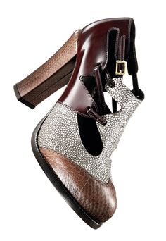 FENDI love this combination of textures also the play on masculine-feminine