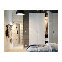 PAX Wardrobe, white, Hemnes white soft closing hinge 78 3/4x23 5/8x93 1/8