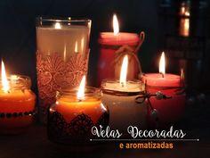 diy velas decoradas e vidros de papinhas po