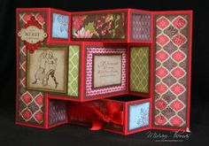 For a Christmas card or ANY occasion... this Tri-shutter card tutorial shows you how to make your own 3D shutter cards.