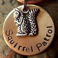 Squirrel Patrol... Pet ID Tags/Tag... Dog Tags/Dog Tag (Name and Number included). $14.00, via Etsy.