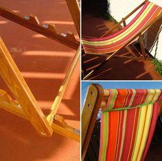 Ein Retro Liegestuhl für die heißen Tage im Garten