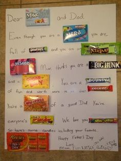"""Image detail for -. To"""" Homemaker: How To - Make a Candy Bar Card - Happy Father's Day Happy Fathers Day, Fathers Day Gifts, Craft Gifts, Diy Gifts, Candy Bar Cards, Candy Messages, Candy Letters, Candy Making, Cards For Friends"""