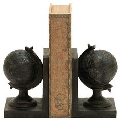 Found it at Wayfair - World Globe Themed Bookend (Set of 2)