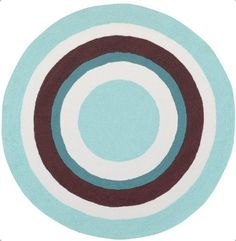 8 Round Kids Area Rug Bright Colored Circle Design From The Nursery To