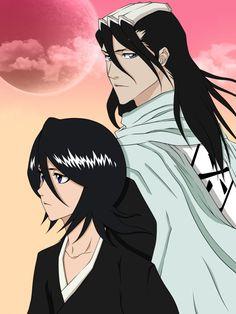 Kuchiki Byakuya and Rukia (Bleach) by CaptainGhostly on deviantART