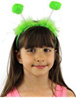Green Bopper Antenna Bobble Caterpillar Alien Fancy Dress Party Book Day