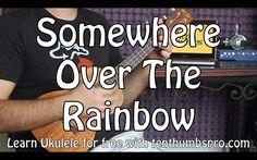 Somehwere Over The Rainbow - Ukulele Tutorial - Iz Song Order Strum Pattern Instrumental Intro Ohhh Intro Chorus Verse Outro Ukulele Songs Popular, Easy Ukelele Songs, Ukulele Songs Beginner, Over The Rainbow Ukulele, Ukulele Fingerpicking, Ukulele Chords, Rainbow Learning, Fun Learning, Ukulele Songs