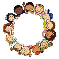 ◗ [Nulled]◛ Children In Circle White Background Baby Background Birthday Child Childhood Circle Pre School, Sunday School, School Clipart, Clip Art, Borders And Frames, Classroom Decor, Coloring Pages, Kindergarten, Crafts For Kids