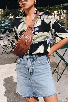 Tropical shirt  and bum bag for summer