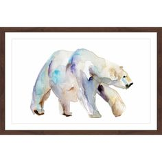 Marmont Hill - 'Polar Bear Walk' by Michelle Dujardin Framed Painting Print