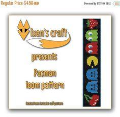 20% SALE Loom bracelet pattern  Pacman
