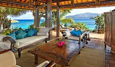 caribbean style outdoor area