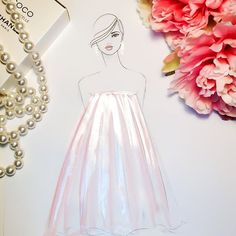 Pink and Silver Fashion Art, Fashion Show, Italian Fashion, Coco Chanel, Illustrators, Illustration Art, Sparkle, Formal Dresses, Instagram Posts
