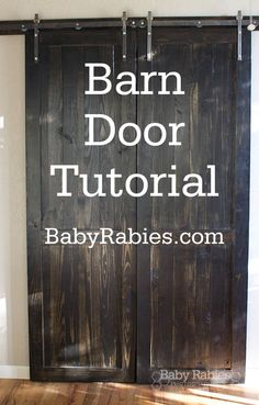 At last! The 2nd half of our Barn Door project is up for those of you looking to recreate this look on a budget. For the first half- the Barn Door TRACK Tutorial, go here. The following is just the tutorial for the doors.Click here to view this image full size.At Home Depot (or Lowes), buy…