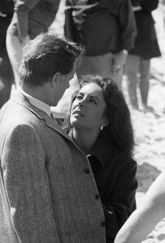 Elizabeth Taylor with Richard Burton...she always looked at him like that