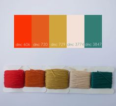 Embroidery color palette