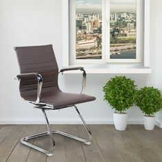 Wrought Studio Ferranti Guest Chair Upholstery: B Best Office Chair, Black Office Chair, Executive Office Chairs, Chair Upholstery, Upholstered Chairs, Conference Chairs, Home Desk, Desk Chair, Gaming Chair