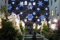 NYC - Rockefeller Center - Saks Holiday Show from the Channel Gardens by wallyg, via Flickr