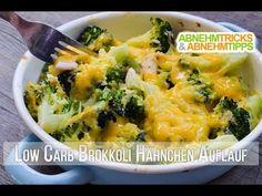 Cremiger überbackener Low Carb Brokkoli Hähnchen Auflauf