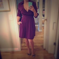 Purple Wraparound Dress  Very cute wraparound dress!  Ark & Co Dresses Midi
