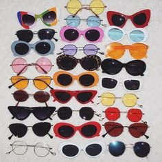 sunglasses sunnies glasses colorful nineties vintage retro cute Cute Sunglasses, Sunglasses Women, Sunnies, Vintage Sunglasses, Summer Sunglasses, Mode Outfits, Grunge Outfits, 90s Grunge, Womens Fashion Online