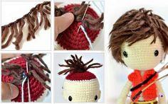 Amigurumi Hair Tutorial : Sharing my tutorial of making short hair for doll. the most