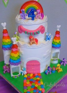 My Little Pony Rainbow Castle Cake