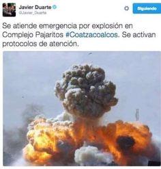 Tunden a Duarte por publicar foto de ataque en Libia tras incendio en Coatzacoalcos (+foto)