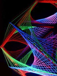"115cm 3D String Art Deko ""Out Of Space"" Neon Party Blacklight 