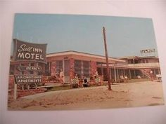 Old Pictures Of Myrtle Beach Sc Vintage Postcard Sail Inn Motel Chrome