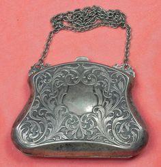 Vintage Silver Coin Purse