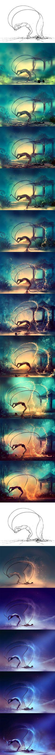 WIP of danser avec ses chaines