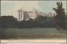 Arundel - Castle from North East, Arundel, Sussex, 1910 - Lévy Postcard LL5