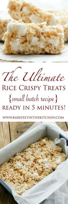 Perfectly gooey, chewy, and stretchy rice crispy treats are a classic that very few people can resist. These rice crispy treats? They are dangerous perfection. I've done significant damage to a pan of...