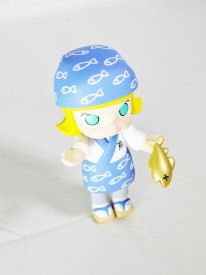 Hong Kong POP MART Kennyswork BLOCK Little Molly Career Series Sashimi Chef Blue – Capsule Culture